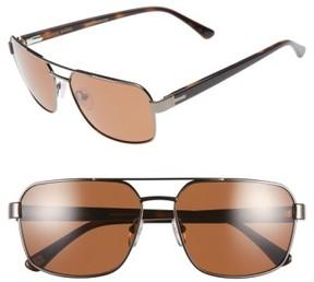 Ted Baker Men's 59Mm Polarized Navigator Sunglasses - Gunmetal