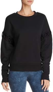 Alo Yoga Hookup Lace-Up Sweatshirt