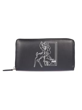 Givenchy Bambi Print Zip Around Wallet