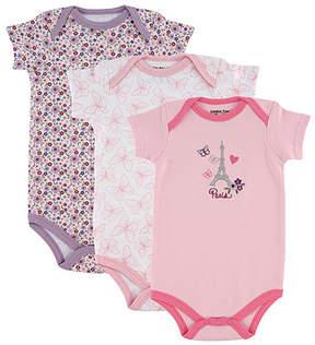 Luvable Friends Pink Paris Bodysuit Set - Infant