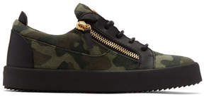 Giuseppe Zanotti Khaki Camo May London Sneakers