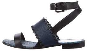 Pollini Leather Multistrap Sandals