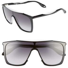 Women's Givenchy 53Mm Mask Sunglasses - Black/ White