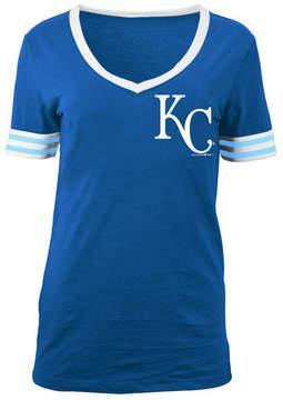 5th & Ocean Women's Kansas City Royals Retro V-Neck T-Shirt