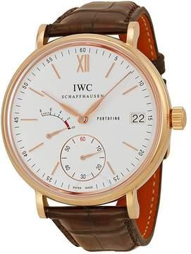 IWC Portofino Silver Dial Brown Leather Strap Men's Watch