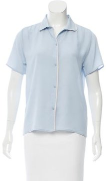 Chinti and Parker Silk Short Sleeve Button-Up