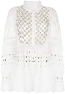 Amen embellished sheer blouse