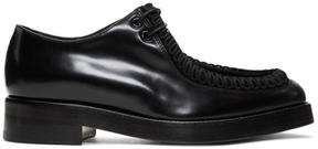 Raf Simons Black Embroidered Classic Derbys