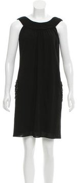 Vera Wang Wool Sequined-Embellished Dress