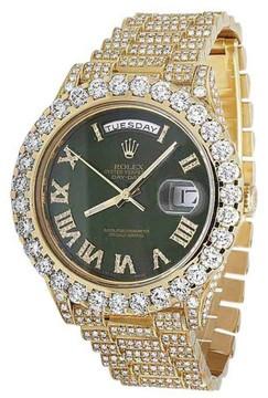 Rolex Day-Date II President 228238 18K Yellow Gold 22.5 Ct Diamond 40mm Watch