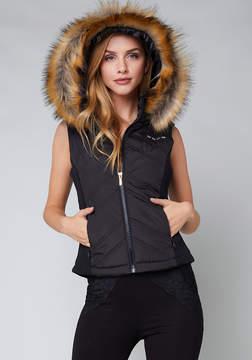 Bebe Hooded Puffer Vest