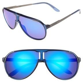 Carrera Men's Eyewear 62Mm Aviator Sunglasses - Blue Ruthenium/ Blue