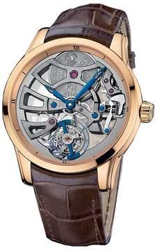 Ulysse Nardin Skeleton Tourbillon Manufacture 18K Rose Gold Men's Watch
