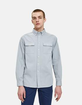 Saturdays NYC Angus Broken Twill Shirt in Stone Blue