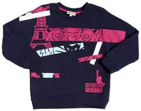 Kenzo Paris Tiger Printed Cotton Sweatshirt