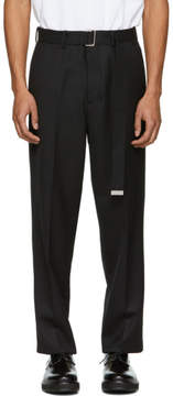 Ami Alexandre Mattiussi Black Large Belted Trousers