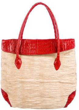 Nancy Gonzalez Crocodile-Trimmed Tote