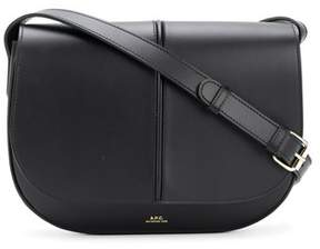 A.P.C. Women's Black Leather Shoulder Bag.