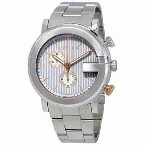 Gucci G Chronograph Silver Dial Men's Watch YA101360