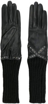 Agnelle studded long line gloves