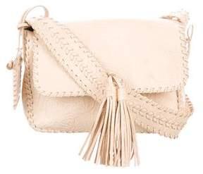 Ralph Lauren Embossed Leather Shoulder Bag