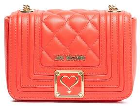 Love Moschino Orange Quilted Shoulder Bag