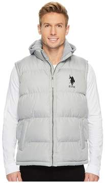 U.S. Polo Assn. Basic Puffer Vest with Fleece Hood Men's Vest