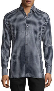 Tom Ford Houndstooth-Print Sport Shirt, Navy