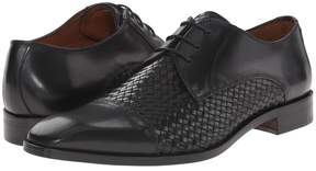 Matteo Massimo 4-Eye Woven Cap Toe Men's Lace Up Cap Toe Shoes