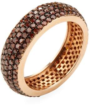 Artisan Women's 14K Rose Gold & 1.85 Total Ct. Brown Diamond Eternity Band Ring