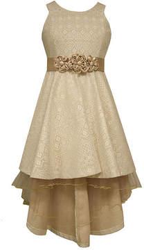 Bonnie Jean Ivory Bonded Lace High-Low-Hem Princess Dress - Girls- Size 7-16