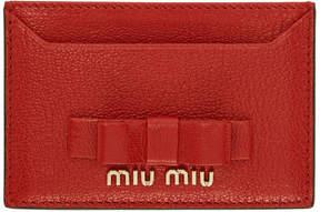 Miu Miu Red Bow Card Holder