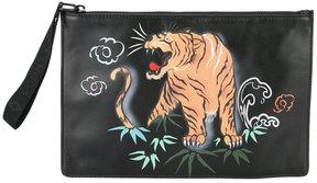 Marcelo Burlon County Of Milan tiger print clutch bag