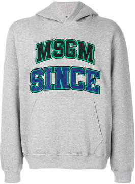 MSGM embroidered hoodie