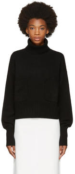 Chloé Black Cashmere Pocket Turtleneck