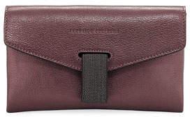 Brunello Cucinelli Mini Leather City Crossbody Bag