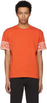 Kenzo Orange Logo Sleeve T-Shirt