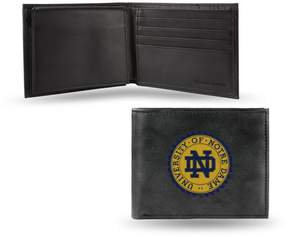 Rico NCAA Embroidered Leather Billfold Wallet - Notre Dame