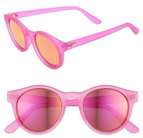 Le Specs Women's Hey Macarena 51Mm Round Sunglasses - Matte Magenta