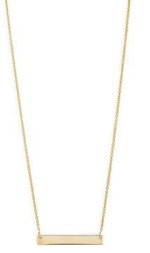 Bony Levy Women's 14K Gold Bar Pendant Necklace (Nordstrom Exclusive)