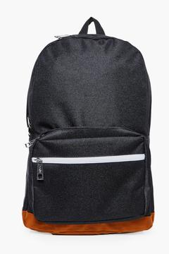 boohoo Suedette Panel Backpack