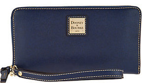 Dooney & Bourke As Is Saffiano Large Zip Around Wallet - ONE COLOR - STYLE