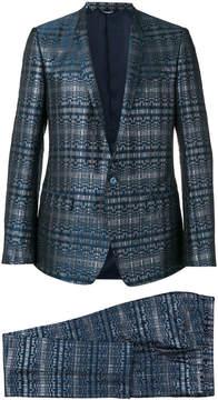 Dolce & Gabbana woven metallic suit