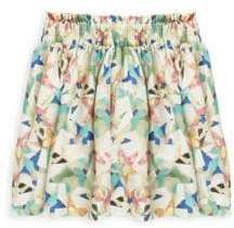 Stella McCartney Toddler's, Little Girl's& Big Girl's Nat Star-Print Silk Skirt