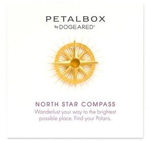 Dogeared Women's Petalbox North Star Compass Pendant Necklace (Nordstrom Exclusive)