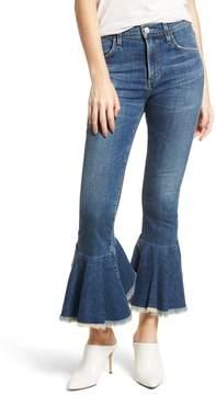 Citizens of Humanity Drew Flounce Hem Crop Jeans