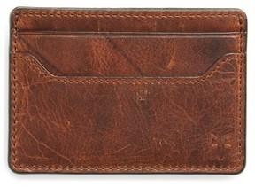 Frye Men's Logan Leather Money Clip Card Case - Brown