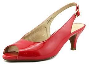 Aerosoles Escapade Women Peep-toe Patent Leather Slingback Heel.