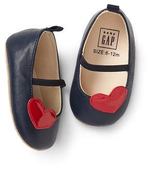 Gap Heart patch mary janes