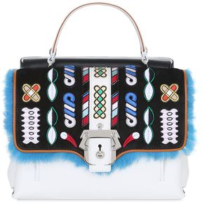 Petite Faye Leather Bag W/ Embroidery